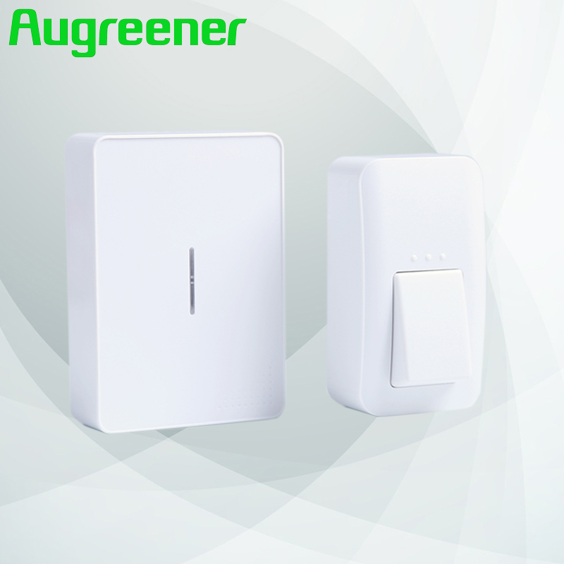 Augreener self powered wireless doorbell button waterproof with no battery door bell EU US UK plug