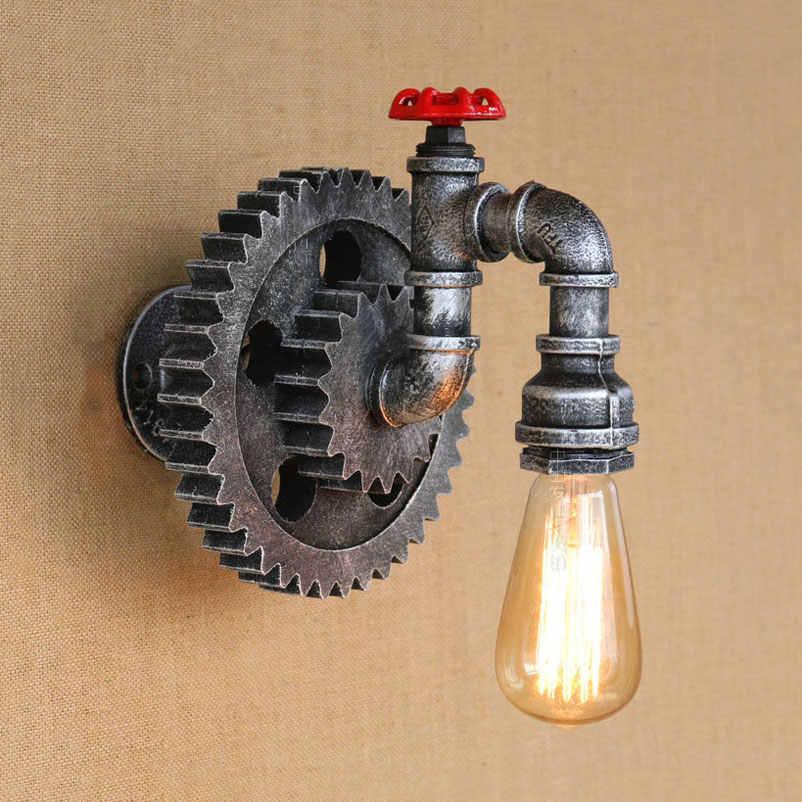 Vintage Eisen rohr wand lampen retro loft wohnzimmer schlafzimmer bar club pub hotel restaurant cafe lichter kreative wand leuchte bh