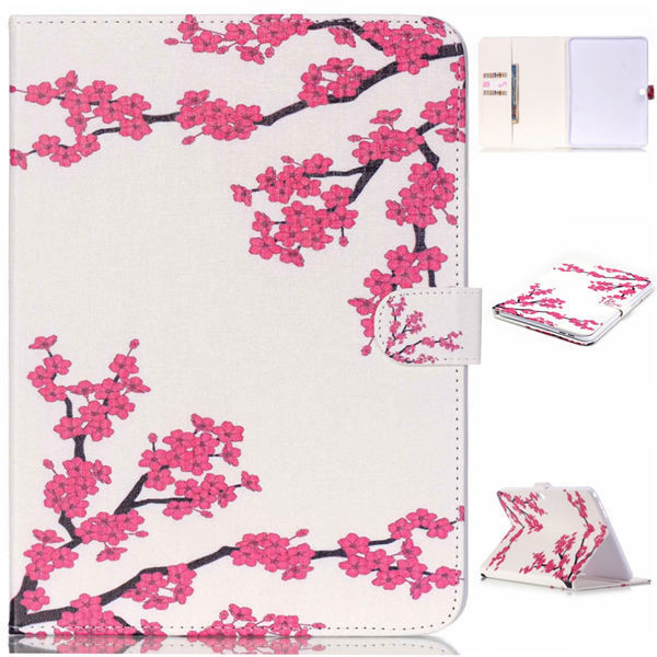 New Cartoon PU leather+TPU Back Cover Paiting Flower Style for Samsung Galaxy Tab 4 10.1″ T530 T531 T535 Tablet
