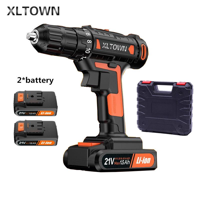цена на Xltown 21v High end Mini Electric Drill Rechargeable Lithium Battery Electric Screwdriver Large Torque Household Drill PowerTool