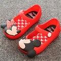 Mini SED Meninas calçam sapatos de princesa 2017 Meninas de Verão Sandálias Crianças Bonitos Do Bebê Sapatos Sandálias para meninas sapatos de Geléia Crianças sandálias