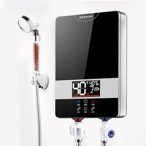 Смарт-постоянного Температура проточный Электрический водонагреватель дома прямого нагрева горячей воды для ванной комнаты Парикмахерск...