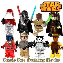 Building Block Star Wars Figures Jango Fett Darth Vader Windu Luminara Naboo Guard Red Snowtrooper Action