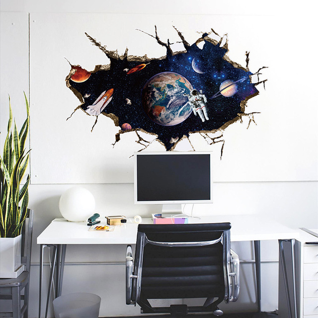aliexpress : buy outer space astronauts creative decoration wall