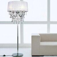 Elegante luxe led crystal Vloer Lampen lichten Indoor Helderheid Moderne Stand Licht voor Woonkamer Sofa Nachtkastje Piano Lamp
