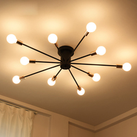 T Loft American Style Retro Ceiling Light For Living Rome Dining Room Restaurant Home Simple Creative