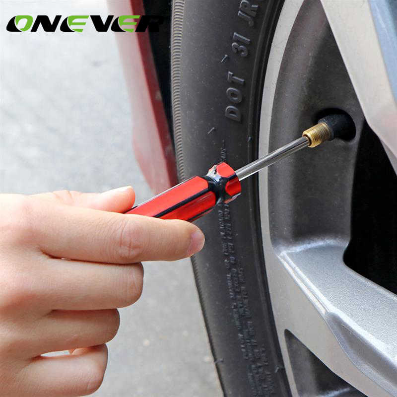 Onever Car Tire Valve Stem Core Remover Auto Tire Tyre Valve Stem Core Removal Tool Wrench Adapter Set