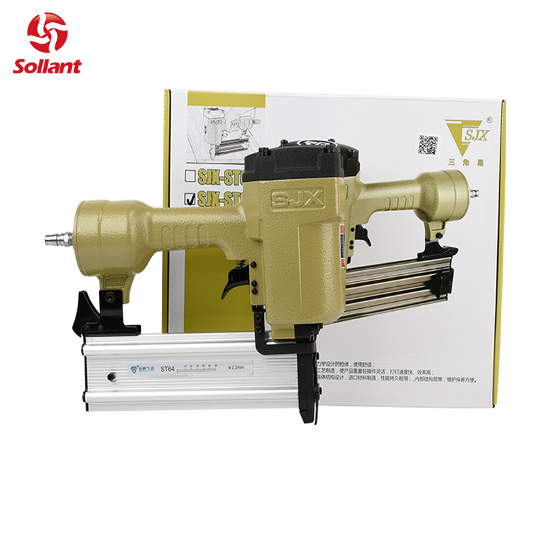 High Quality ST64 T-type Industrial Pneumatic Nail Gun Air Stapler Gun Pneumatic Nailer Gun 18-64mm Suit for Trunking/Concrete