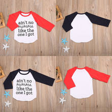Newborn Baby Boy Lettering Long Sleeve T-shirt Tops Blouse Cotton Clothes Outfit(China)