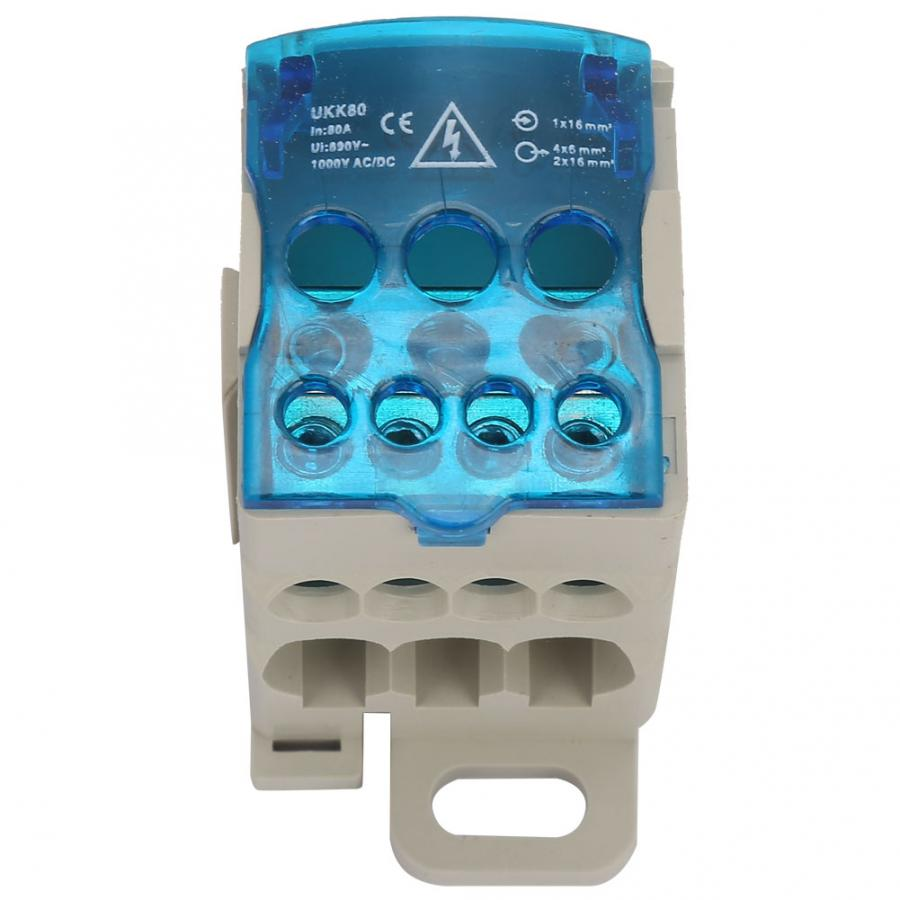 Universal Power Junction Box Din Rail Terminal Block Distribution Box Electric Wire Connector