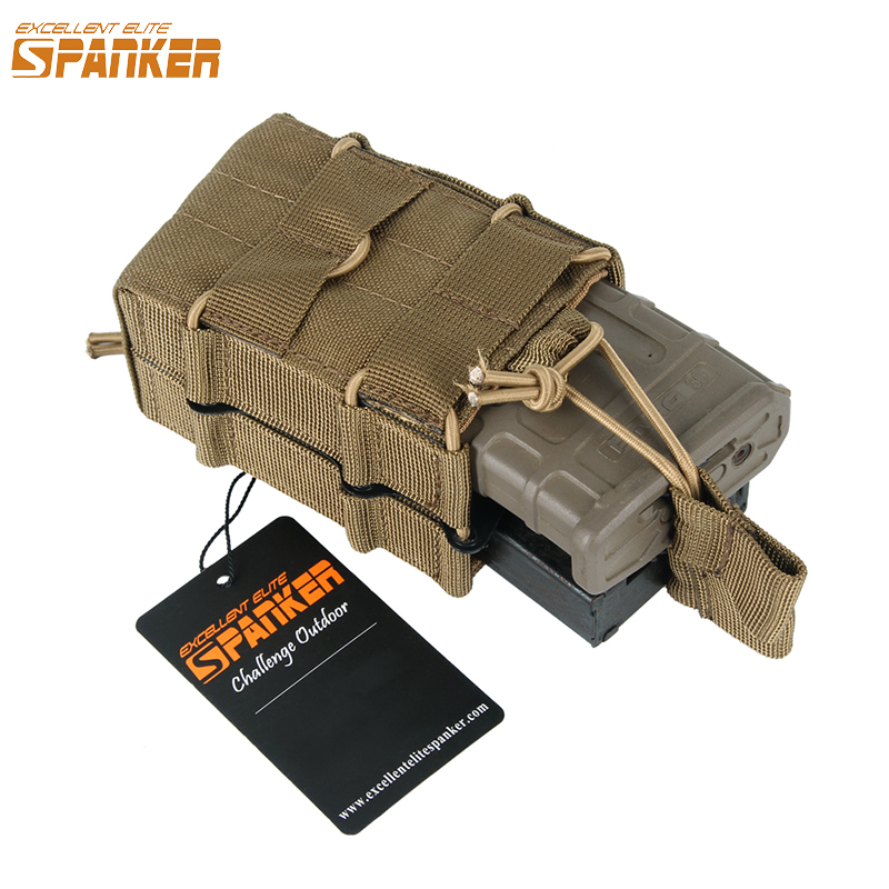 EXCELLENT ELITE SPANKER Outdoor Tactical M4 Dvojitý časopis Pouch Lovecký vojenský Molle Ammo Clip Pouch Cartridge Bag Accessor