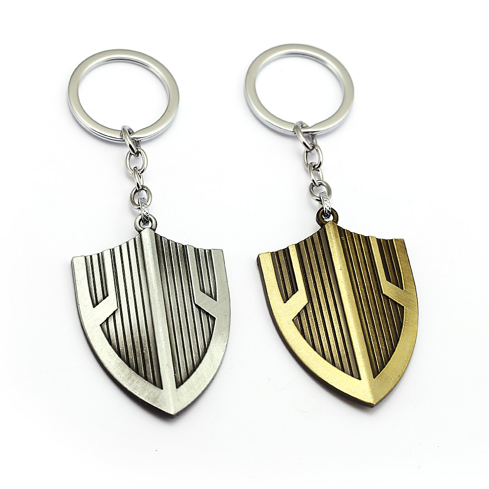 Game Movie Avengers Alliance Infinite War Shield Keychain Pendant Men Car Women Bag Pendant Personality Jewelry Trinket