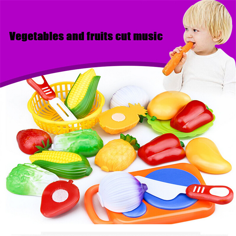 12PC Cutting Fruit Vegetable Pretend Play Children Kid Educational Toy Hot High Quality Dropshipping Free Shipping P4