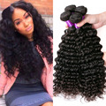 8А Индийский Глубокая Волна 3 Связки Deep Курчавые Индийские Девы Волос сырье и Индийские Волосы Weave 3 Связки Deep Вьющиеся Человеческих Волос