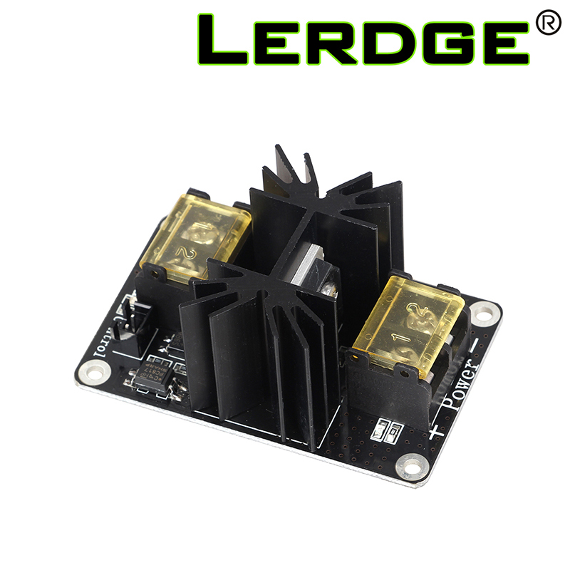 LERDGE 3D Printer Part Add-on Heated Bed Power Expansion Module High Power Module expansion board with Cable