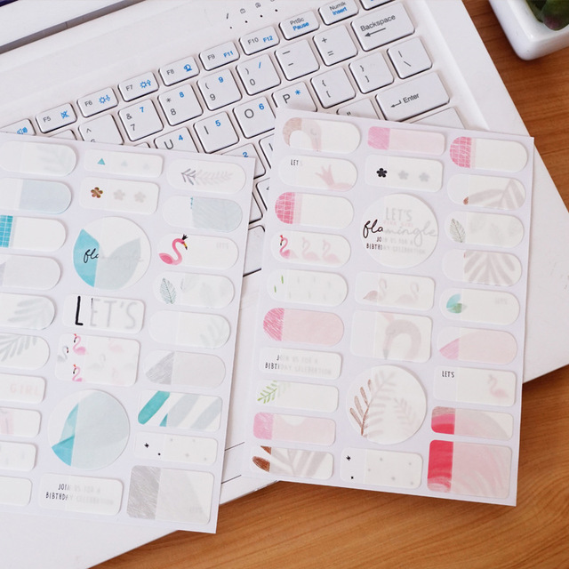 Flamingo Mark Name Stickers Decorative Stationery Craft Sbooking Diy Stick Label