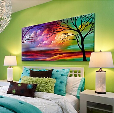 Aliexpress Com Buy Hand Painted Canvas Modern Landscape Natural Scenery Painting For Living Room Bedroom Decor Paintings For Living Room Wall Decor From