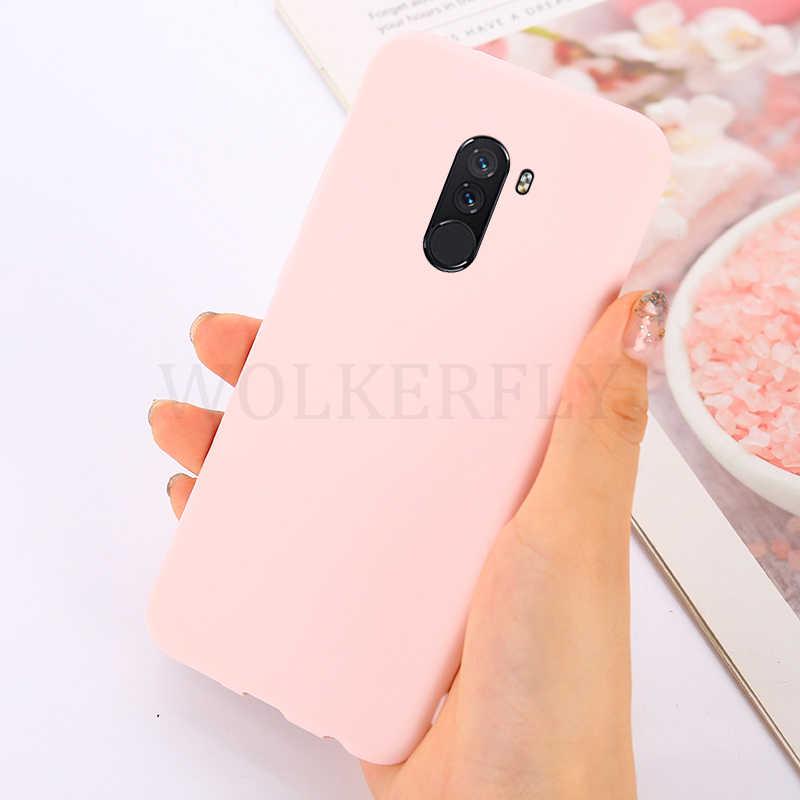 Del caso de Color para Xiaomi pocophone f1 mi 6 8 SE 6X A1 A2 5X Caramelo Suave cubierta de rojo mi 6A S2 Nota 4 5 5A 6 Pro 4X caso Plus