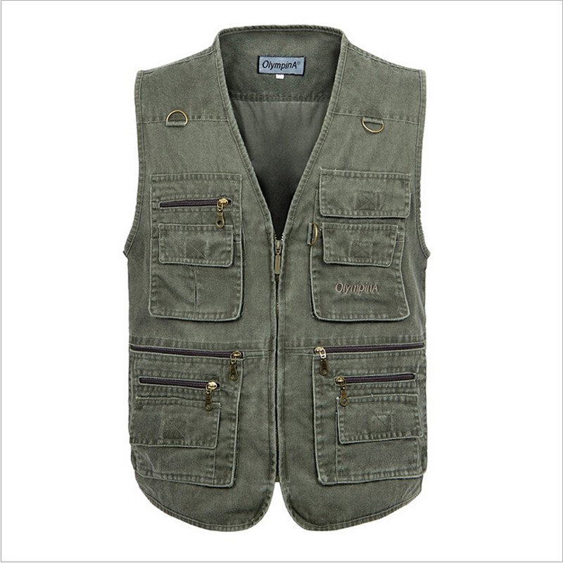 2017 Men Summer Fashion Vest Male Canvas Vest With Many ...