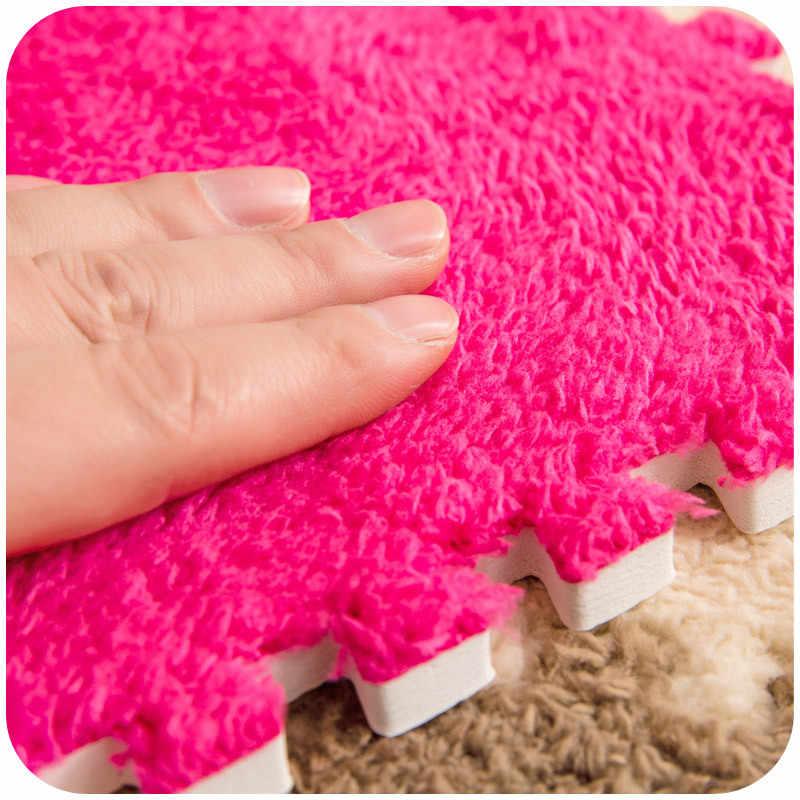 Tapetes rastejando da almofada do bebê da esteira do quebra-cabeça da espuma 30x30cm para a sala e o quarto