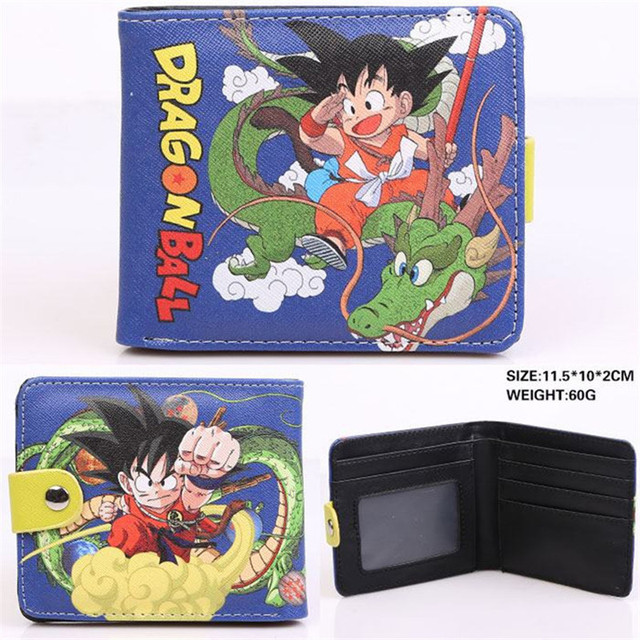 wu kong wallet dragball pu leather purse male female Slim wallet anime monkey king kids cion wallets Kids Wallets
