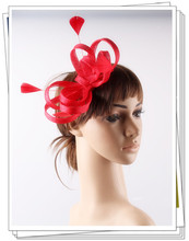 17 colors charming sinamay material fascinator headpiece wedding hair accessories church font b hat b font