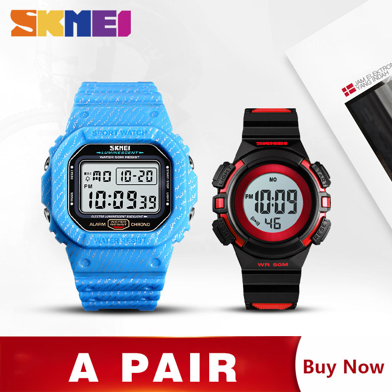 SKMEI Digital Sport Watch Men Kids Watches Fashion Stopwatch Wrist watches For Mens Girls Boys montre homme 1471 1485 Set