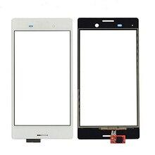 10pcs/lot For Sony Xperia M4 Aqua E2303 E2333 E2353 Touch Screen Digitizer Glass with Logo, Black White Free Shipping