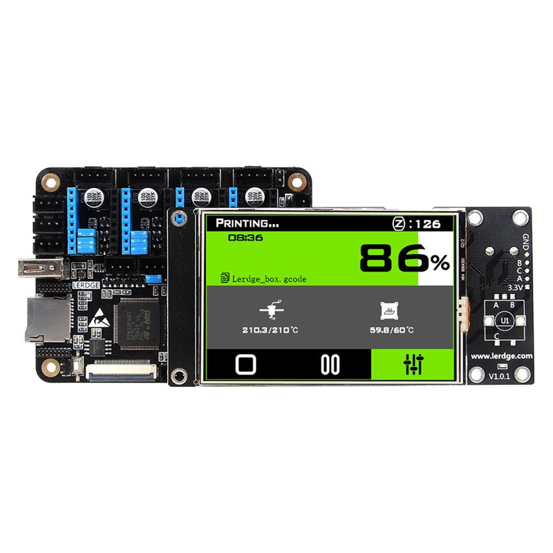 BLEL Hot 3D Printer Controller Board ARM 32Bit Mainboard control with 3.5Touch Screen HQ hq 100
