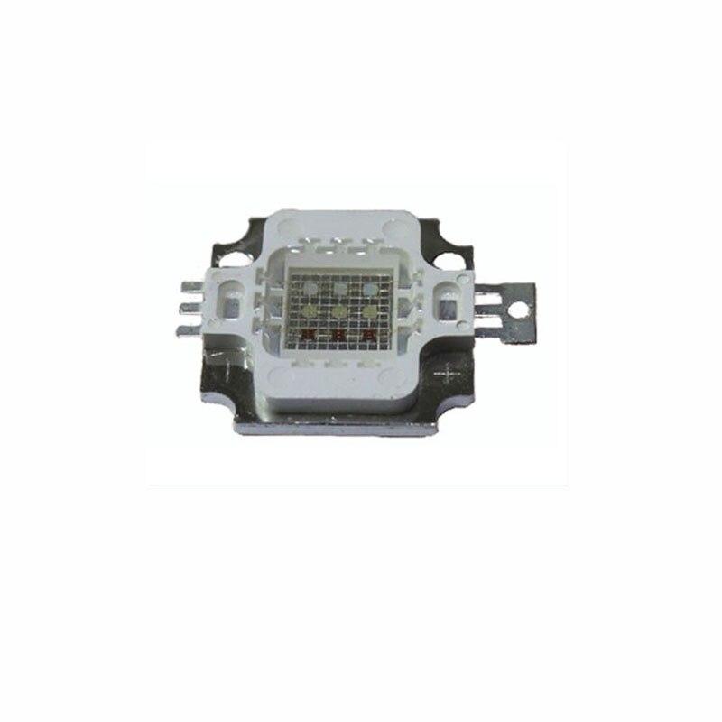 50X Wholesale 10W high power RGB LED lamp bead high quality rgb led chip for led lighting free shipping