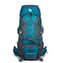 80 + 5L Campeggio Zaino Esterno Impermeabile Alpinismo Escursionismo Zaini Molle Sacchetto di Sport Arrampicata Zaino