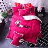 Cartoon Lovely Cat Printed Bedding Sets Queen Full Double Twin Size New Cotton Bedlinens Duvet Cover