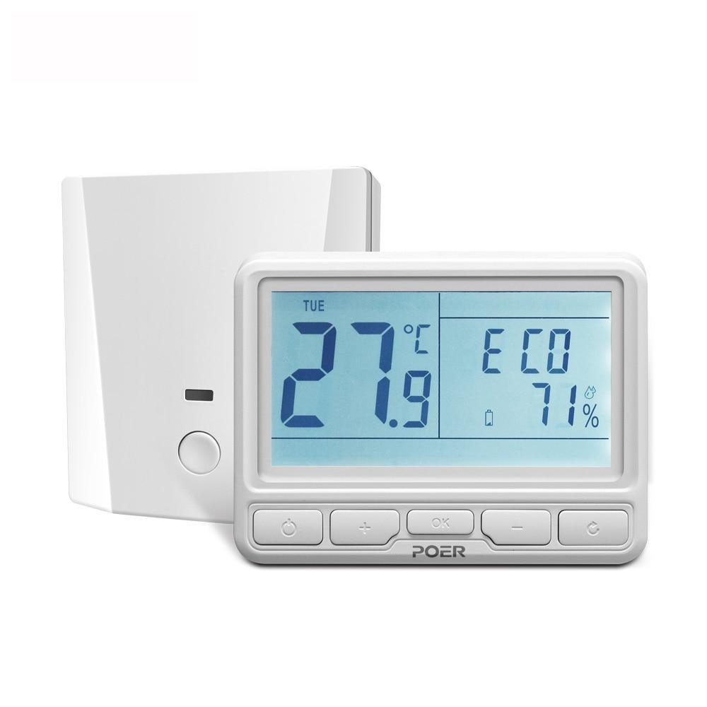 868 Mhz home room wifi digital thermostat wireless weekly ...