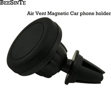 Car phone holder Magnet Holder 360 Rotation Air Mount holder in Car for iPhone 5 4 4s 7 8 for Samsung Universal ABS Strong stand car swivel mount holder for iphone 4 4s black