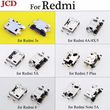 JCD Micro USB Jack 5pin USB Charging Socket Connector For Xiaomi for Redmi 3s 4A 4X 5 5A 5 plus 6 Port Charging Data power Plug(China)