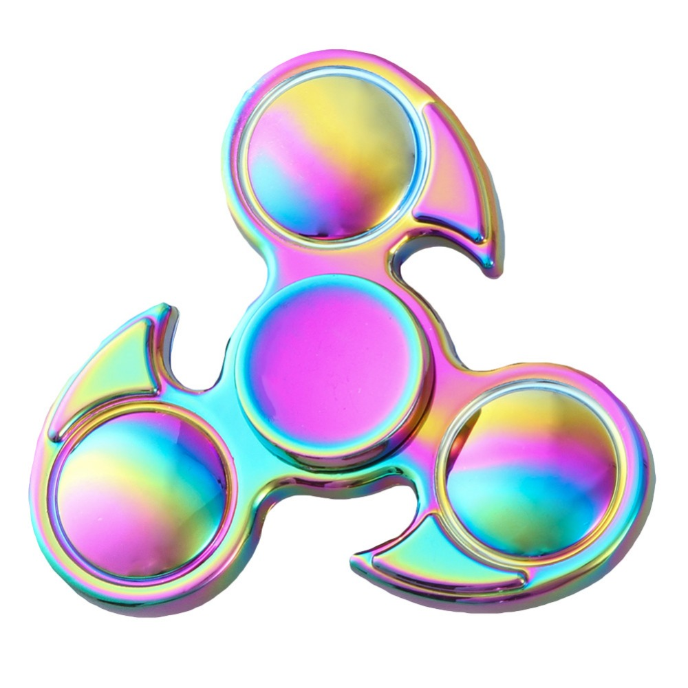 Fingertip gyroscope Tri-Spinner Toy Plastic EDC Three-leaf Spinner Stress fidget Relief Toy Spinners