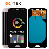 Super AMOLED LCDs For Samsung Galaxy J7 Pro 2017 J730 J730F LCD Display with Touch Screen Digitizer Assembly Free Tempered Glass