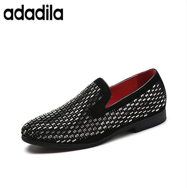 utterly stylish details for shop US $23.48 12% OFF|Full Shining PVC Bricks Decoration Mens Formal Dress  Shoes Soft Sole Slip on Loafers Big Size Party Casual Shoes-in Formal Shoes  ...