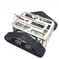 Aluminum Alloy Tank Chassis for DIY RC Intelligent Robot Car Wall e Caterpillar Tractor Crawler Toys Chassis