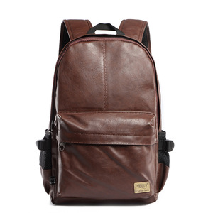 Image 3 - Three box 2017 Brand Leather Mens Backpack Fashion Three Colour Travel Backpack Laptop Vintage Leather School Bag Weekend Bags
