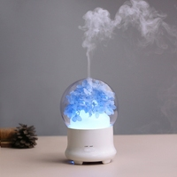 Immortalized Flower Aromatherapy Machine Ultrasonic Air Humidifier LED Light Air Purifier Seven Color Night Lamp Ultrasonic
