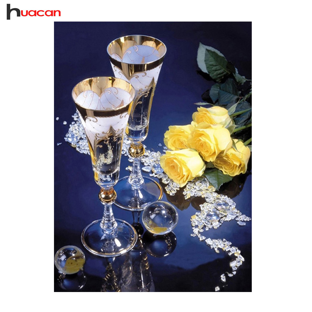Huacan 5D,Champagne,Rose,Diamond Embroidery,Full,Square,Diamond Painting,Cross Stitch,DIY,Diamond Mosaic,Kits,Home Decor,GiftHuacan 5D,Champagne,Rose,Diamond Embroidery,Full,Square,Diamond Painting,Cross Stitch,DIY,Diamond Mosaic,Kits,Home Decor,Gift