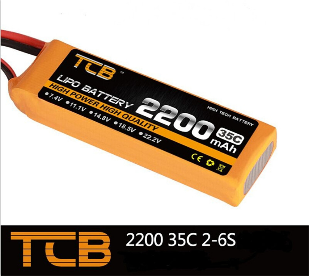 TCB RC Drone lipo battery 11.1v 2200mAh 35C 3s for rc airplane free shipping mos rc airplane lipo battery 3s 11 1v 5200mah 40c for quadrotor rc boat rc car