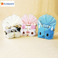 LumiParty 50 Pcs Cute Animal Packing Bag Food Package Cookie Candy Biscuit Gift Bags For Party