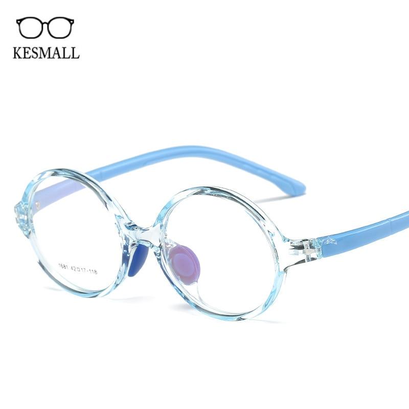 KESMALL детей прозрачные оптические очки кадр Мальчики TR90 игровой Оправы для очков прекрасный Стиль девочек близорукость очки XN898 ...