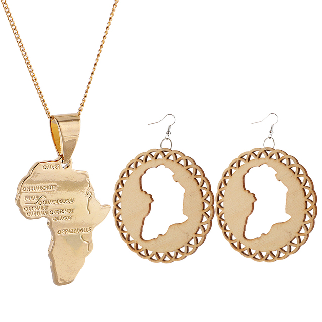 1 pair unfinished diy wooden earring africian map gold cooper 1 pair unfinished diy wooden earring africian map gold cooper metal africa map pendant necklace aloadofball Choice Image