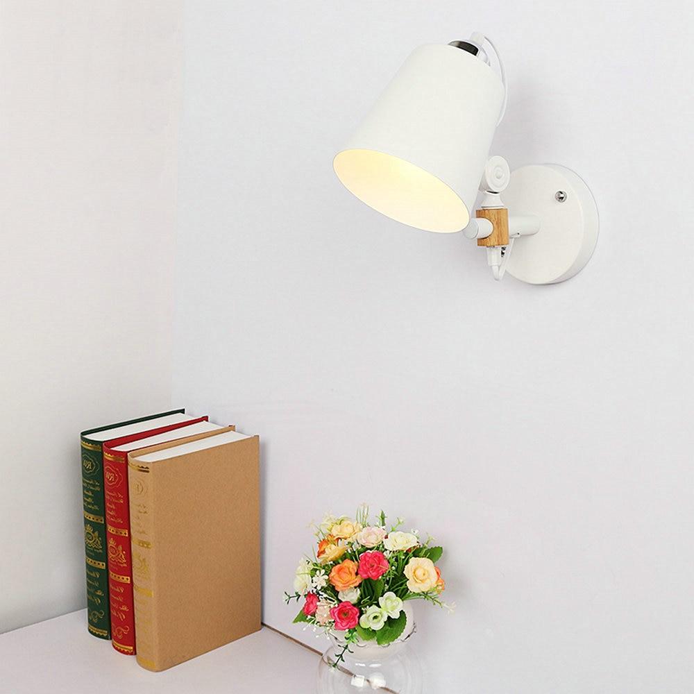 Moderne Appliques Murales Blanc Noir Art Déco Mur Lampes Applique En