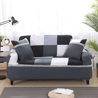 Simple Plaid Printed Stretch Furniture Sofa Covers For Living Room Elastic Converts Cover Universal Seat Cover
