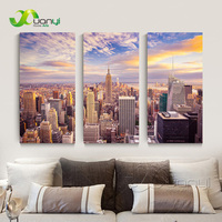 3 Pieces Wall Art New York City Picture Canvas Painting Modern Wall Picture For Living Room