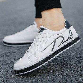 Primavera Moda Hombres Zapatos Vulcanizados Marca Zapatillas Blancas Hombres Zapatos Para Caminar Al Aire Libre Hombre Zapatos Adultos Transpirables